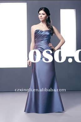 2012 New Style Western A-Line Strapless Satin Bridesmaid Dresses