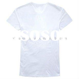 2012 hot selling white blank 160gsm men's pure cotton polo shirt,V-Neck