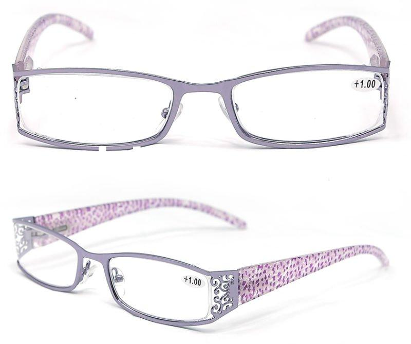 2012 new design fashion female optical glasses metal reading glasses