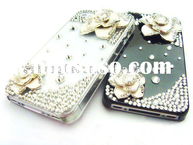 2012 new fashion/luxury/charming mobile phone accessory, bling bling diamond case for iPhone4
