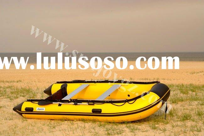 2012 new pvc inflatable aluminum floor motor boat inflatable rib boat