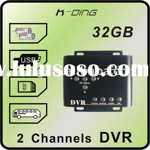 2 ch CCTV Taxi DVR, Mobile DVR, motion detect, 2 cameras working simultaneously, D1 resolution, SD 3