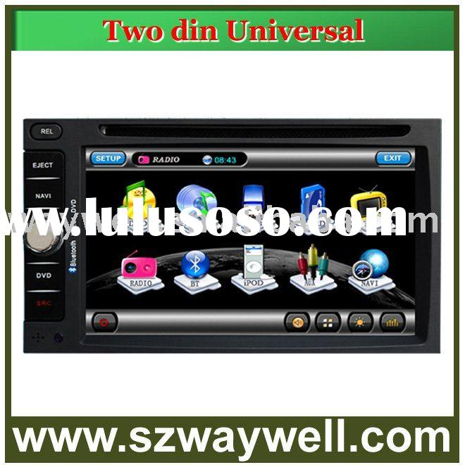 2 din 6.2 inch universal Car DVD GPS Navigation Bluetooth Radio IPOD Touch Screen Video Audio Player