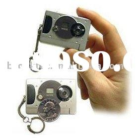 300K Pixels drivers mini digital camera with keychain