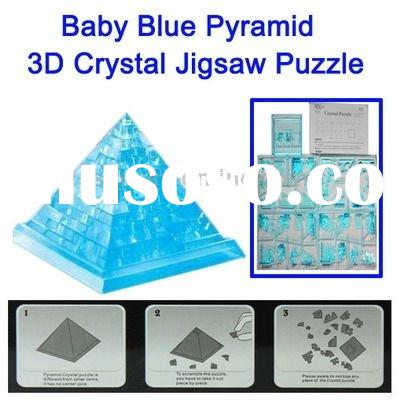 3D Baby Blue Crystal Decoration pyramid Jigsaw Puzzle