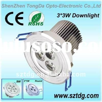 3*3w high power led down lamp(CE.Rohs)