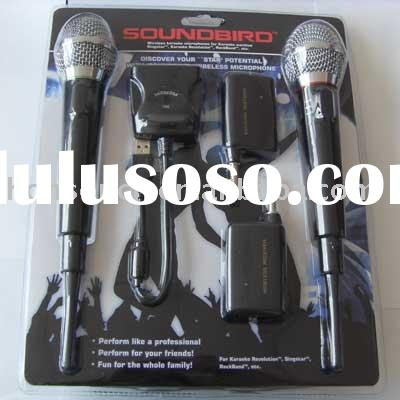 4in1 wireless karaoke microphone for ps2,ps3,wii,pc