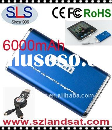 6000mAh Portable Power Bank, Battery Charger for iPhone,iPad,iPod,Blackberry,Digital camera,PSP... S