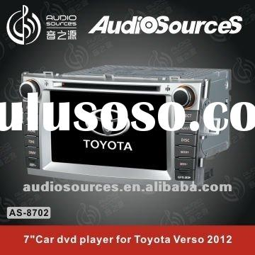 "7"" TFT touch screen Special car gps dvd player for Toyota Verso 2012 with BT,TMC,RDS,GPS,DVB-T,"