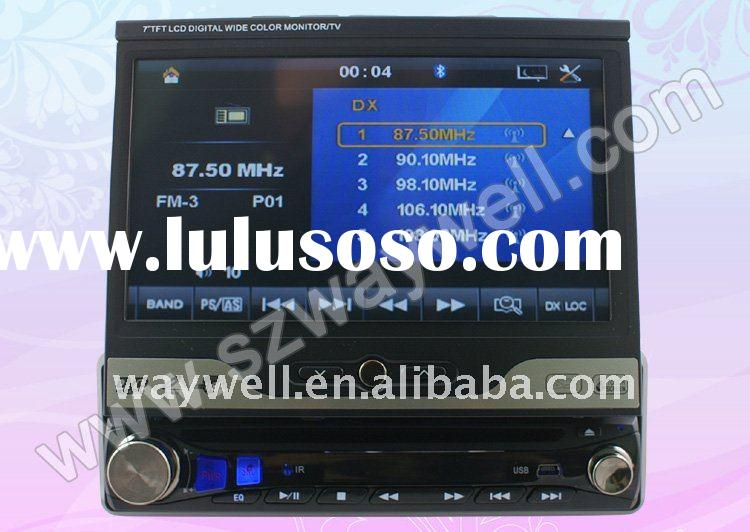 7 inch 1 Din Touch Screen car DVD player with RDS IPOD, Bluetooth