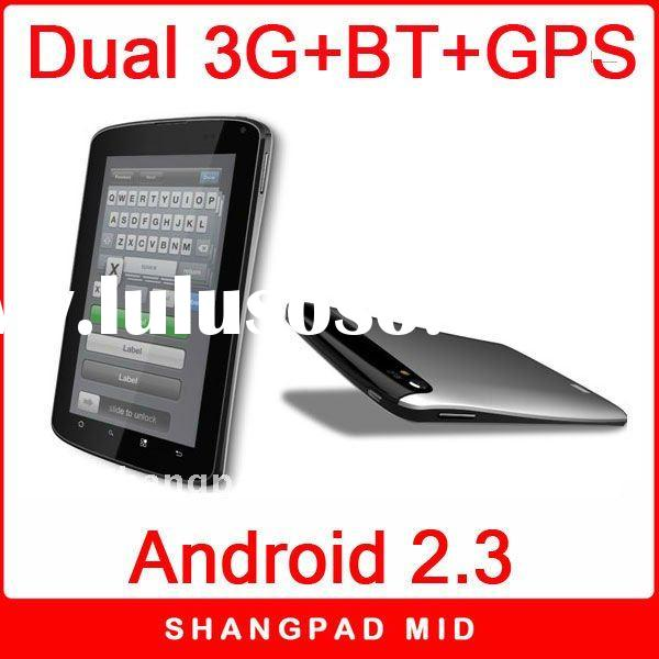 7 inch android 2.3 multi touch Tablet PC support wifi,3g dual sim card wcdma+gsm,bluetooth,tv,gps,fm