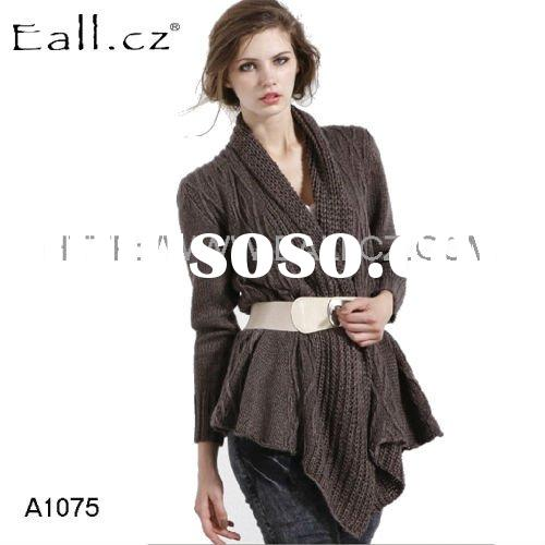 A1075 2012 Newest Fashion design women sweaters coat