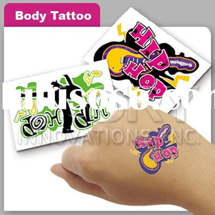 Adult Body Tattoo With Temporary Effect
