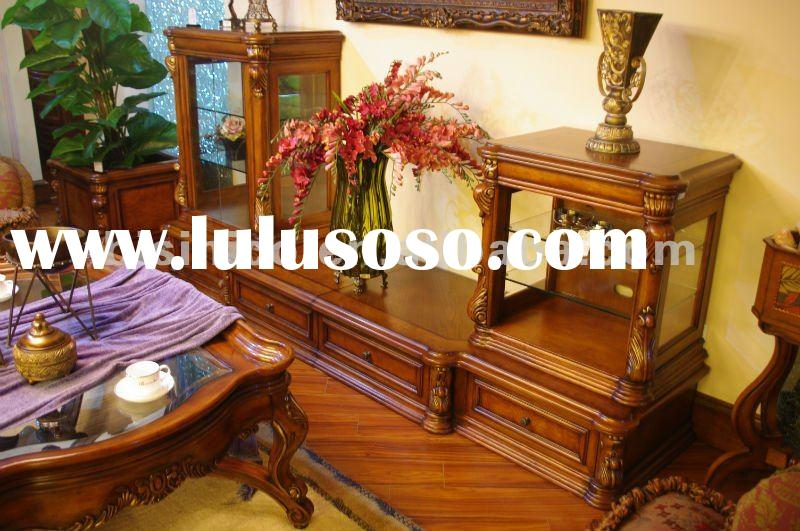 Antique living room stand&cabinet combination,TV stand,TV table,TV cabinet,TV cabinet,made of wo