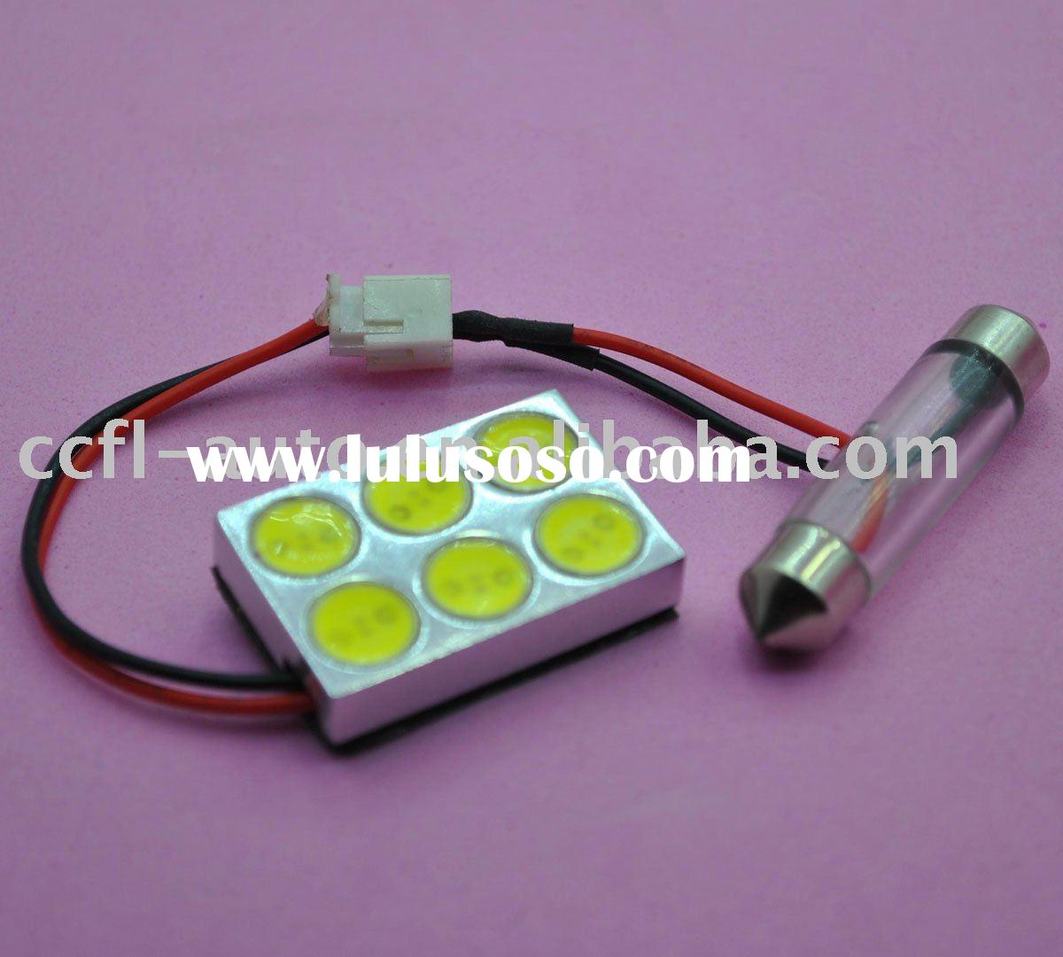Auto LED high power lamp 6W. come with universal connector for T10, BA9S, festoon fitting