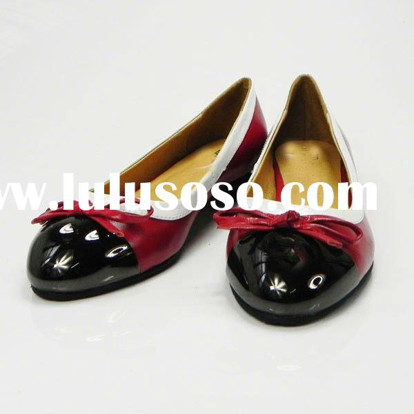 Brand ladies leather flat shoes 2012