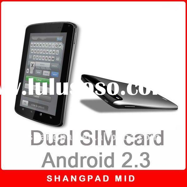 Built in 3G Android Tablet dual sim card WCDMA/GSM Android 2.3 multi-touch wifi tv fm bluetooth gps