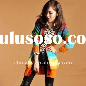 Colorful Ladies Knitted Cardigan di1304