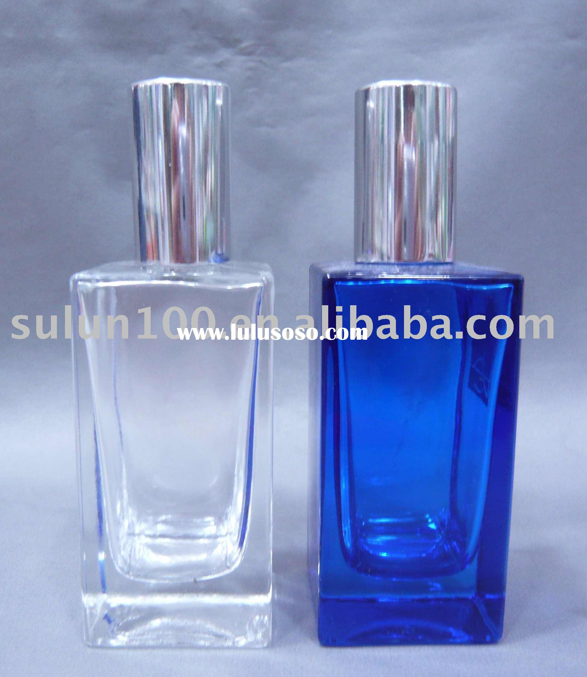 Crystal glass perfume bottle with pump sprayer