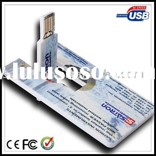 Custom logo Credit card usb flash drive