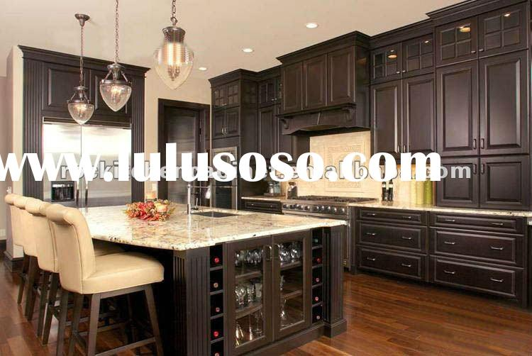 Dark cherry solid wood kitchen cabinet door for sale for Cherry wood kitchen cabinets price