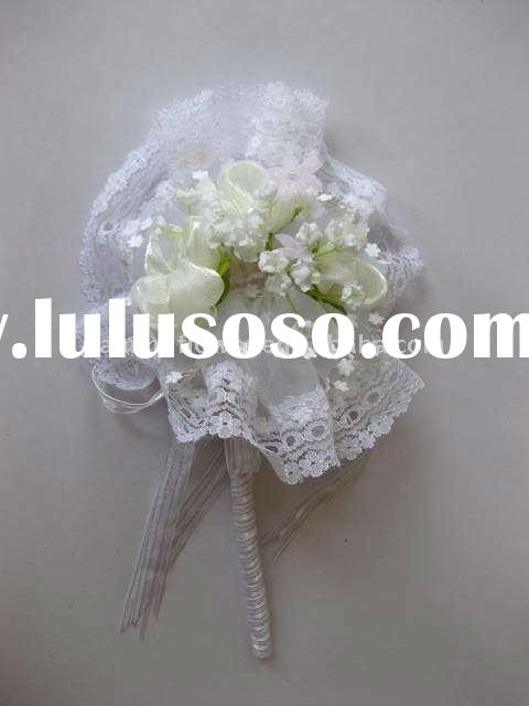 Decorated single short stem Wedding use artificial flower, bouquet, hand made flowers all design all