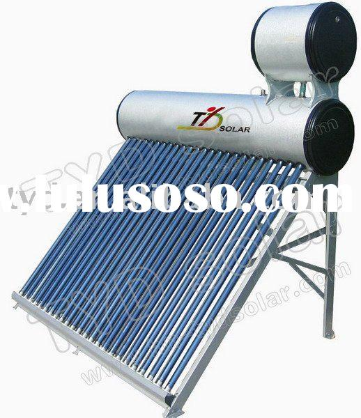 Double Tank Vacuum Tube Compact unpressurized Solar Water Heater