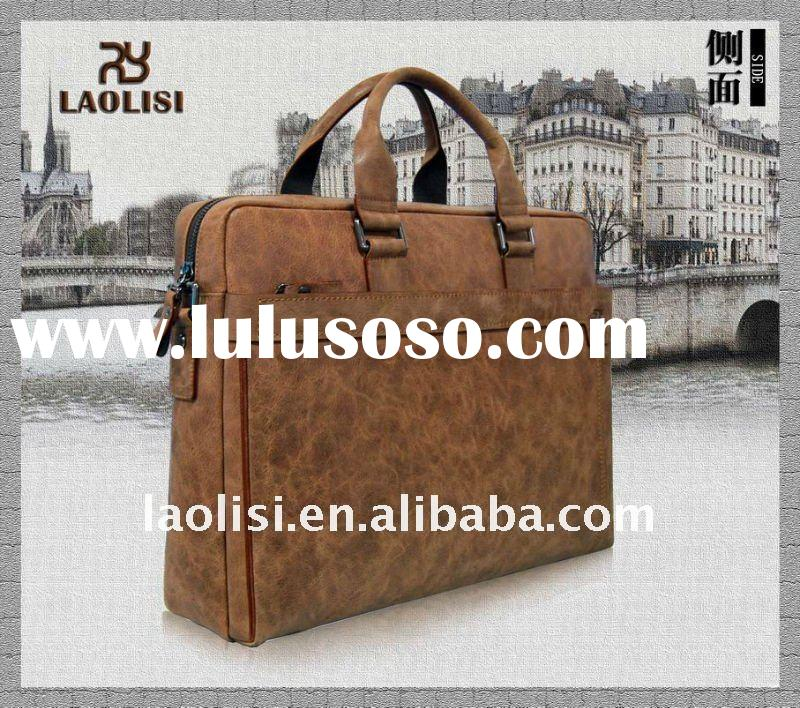 Factory best selling cow leather laptop briefcase