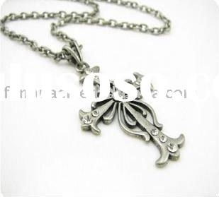 Fashion costume jewelry vintage simple cross necklace