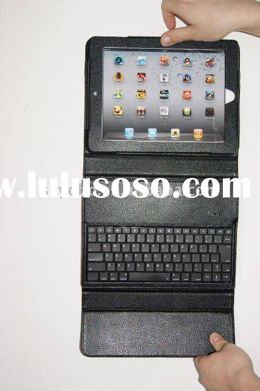 For Ipad 2 leather case with ABS bluetooth keyboard