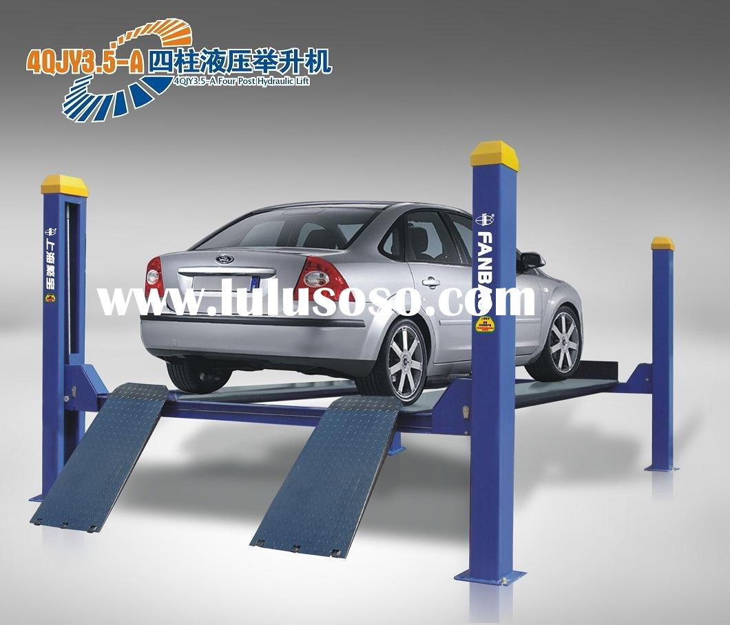 Small Hydraulic Lift System : Four post hydraulic car parking system lift for