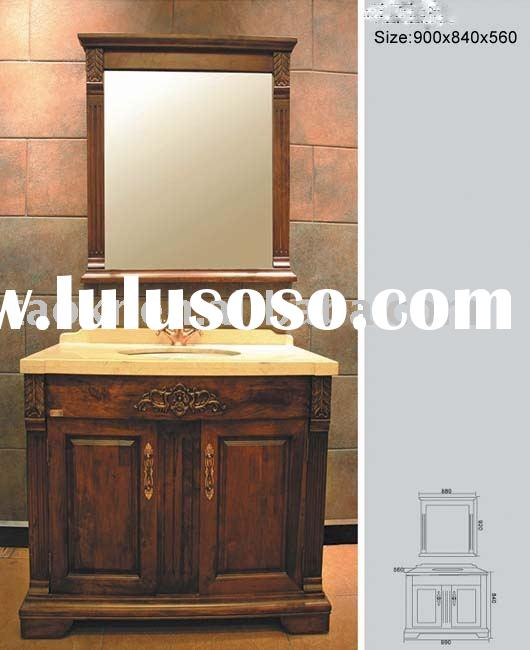 V 17068a antique solid wood bathroom cabinets bathroom vanities vama for sale price china Solid wood bathroom vanities cabinets