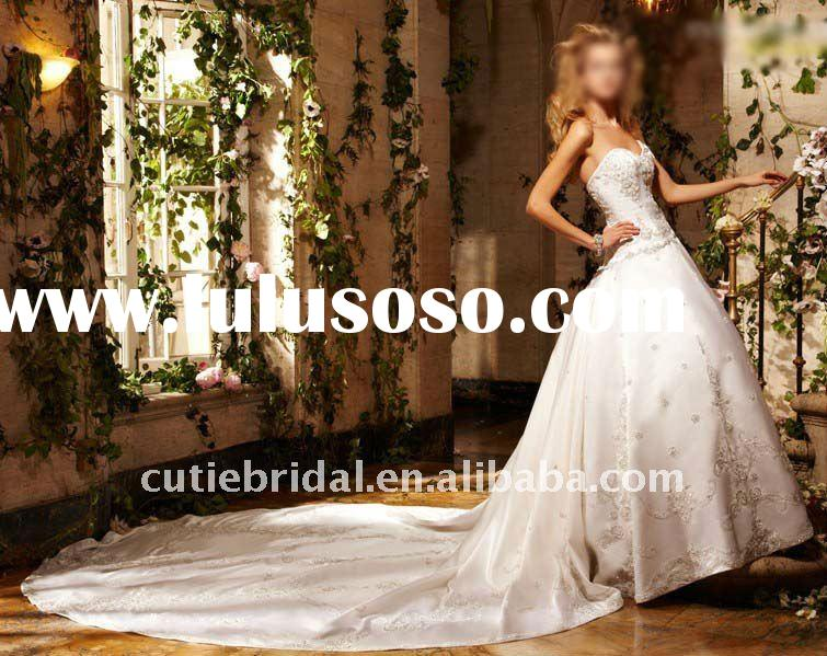Gorgeous Sweetheart Cathedral Train Ball Wedding Dress 10600