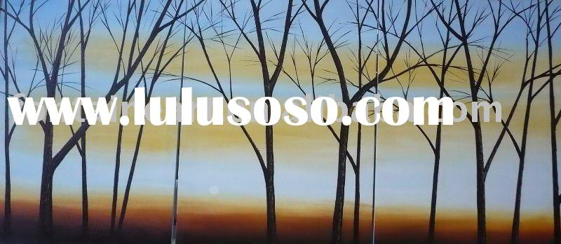 Group Abstract trees Oil painting (3 panels)