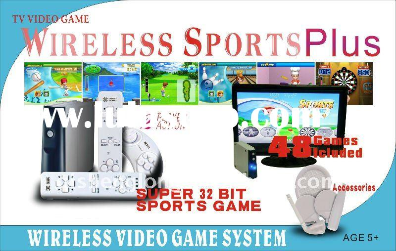 HD-032 Dream Sports 32 Bits CPU Multimedia Sports Game, 2 pcs Wireless Remote Control, All Action wi