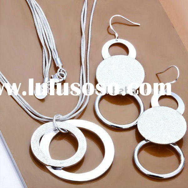 Hot sale 925 sterling silver jewelry set,fashion jewelry,necklace earring set