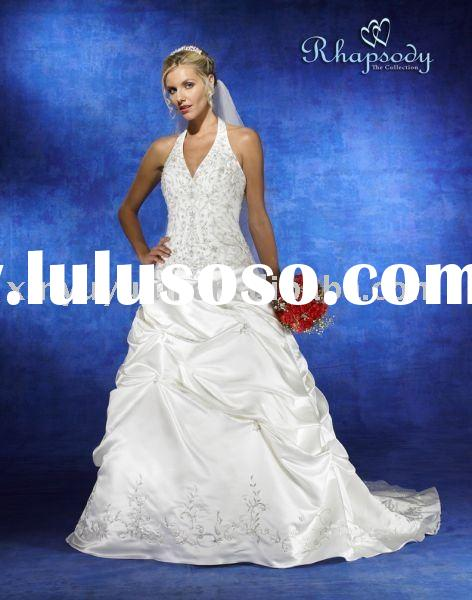 Hot sale cheap traditional romantic V-neck designer formal wedding dress/bridal gown SYW218