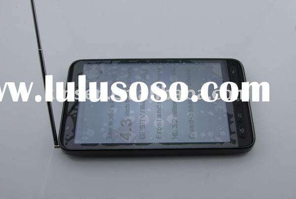 Hot selling free shipping D2000 TV,WIFI,GPS,dual sim card,4.3 inch touch screen, unlocked mobile pho