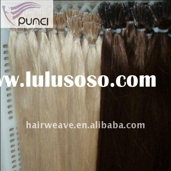 Human hair, Keratin Prebond I tip Hair Extension indian human hair