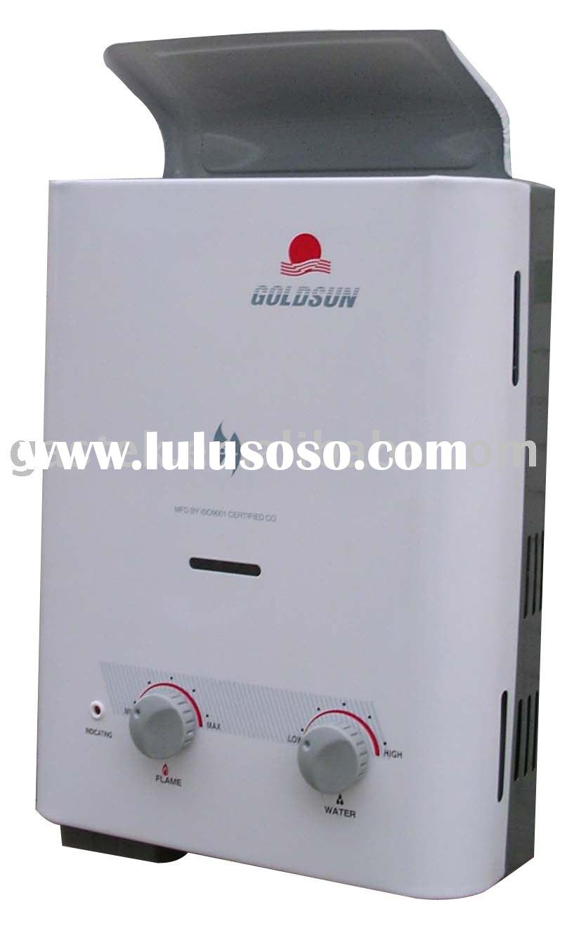 Instant tankless natural exhaust gas water heater