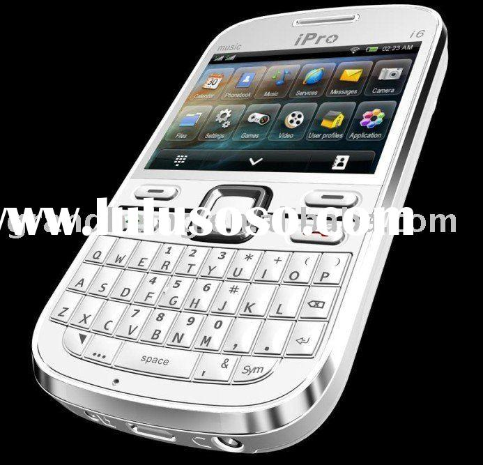 Ipro I6 Quad Band Dual Sim Cards/Standby Qwerty Keyboard Cheap Mobile Phones ( accept paypal )