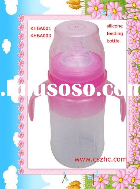 KHAB001-KHBA003 Silicone baby feeding bottle