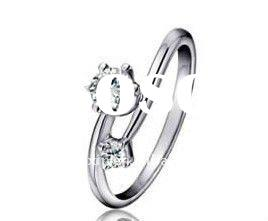 Lady's ring Gold ring White gold Jewellery