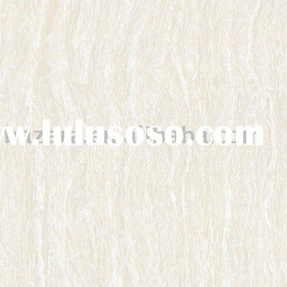 Light Grey Color Wood Grain Pattern Double-Loading Porcelain Polished Tile