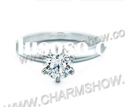 Low Wholesale Price Classic 925 Silver Big Diamond Rings