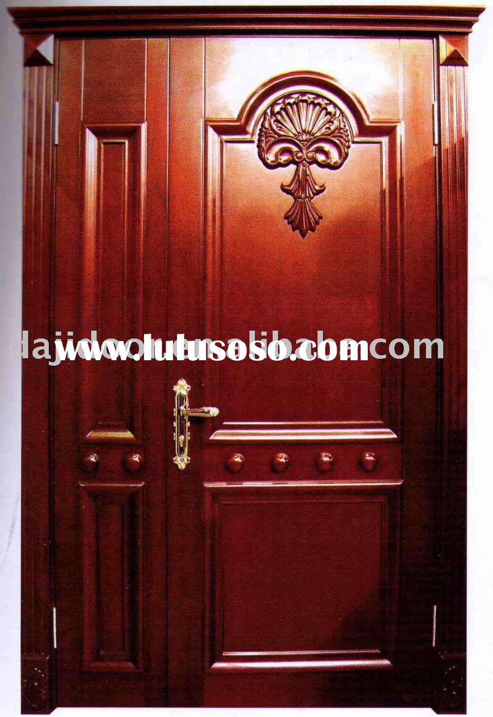 Luxury Solid Wood Home Main Door Design DJ-S863