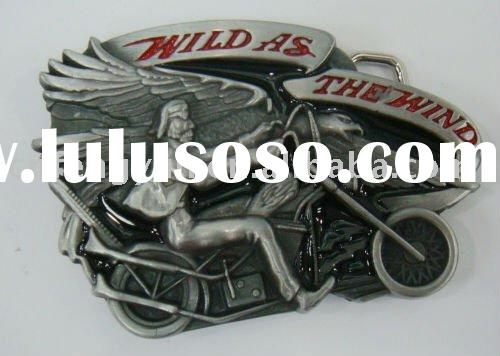Motorcycle girl belt buckle with lowest price