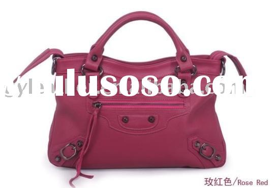 Name brand genuine leather bags lady leather handbags