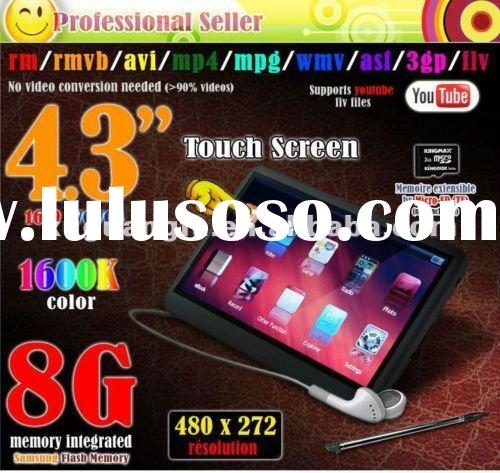 """New REAL 8GB MP3 MP4 MP5 Player Games Camera DV FM Radio 4.3"""" QWVGA Touch Screen"""