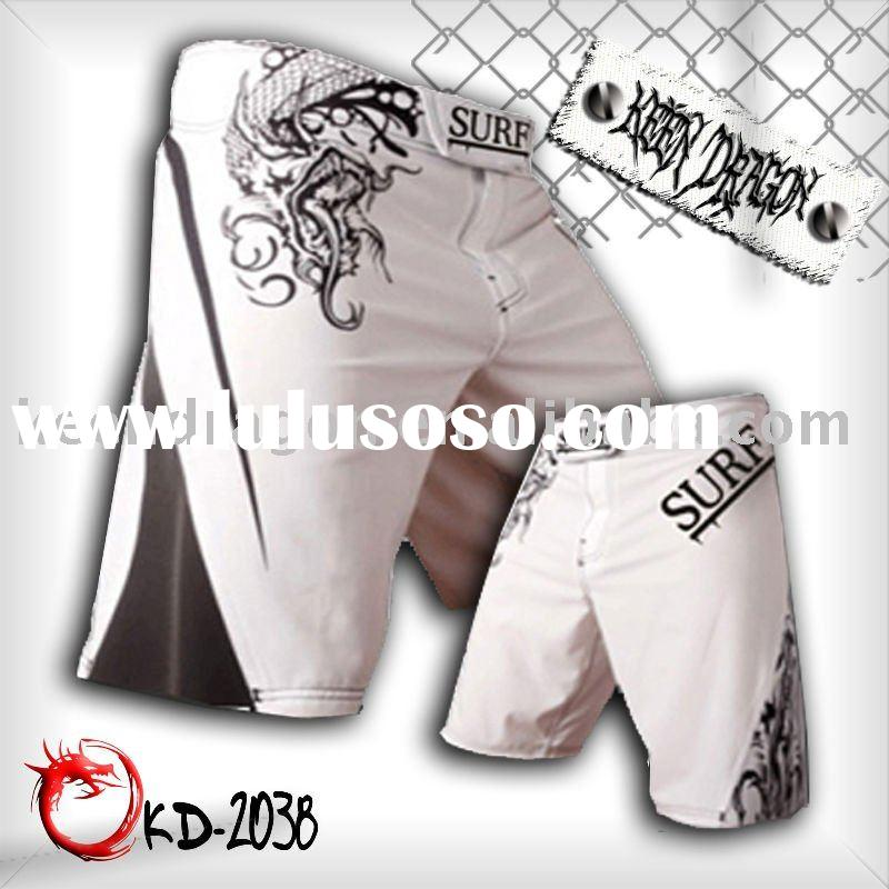 OEM apparel 4-way stretch printed mma fighting shorts